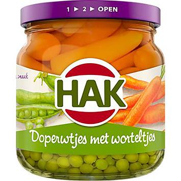 Hak Doperwtjes met worteltjes 195g