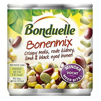 Bonduelle Bonenmix crispy mais rode kidney lima black eyed bonen 160g