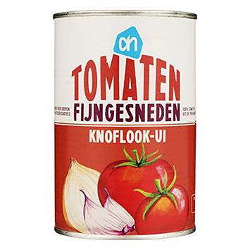 AH Tomaten fijngesneden knoflook-ui 400g
