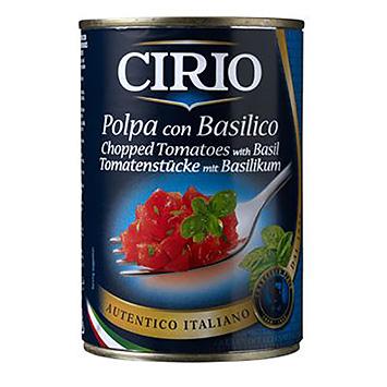 Cirio Tomatenstukjes met basilicum 400g