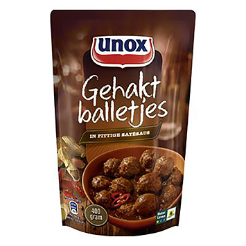 Unox Meatballs in spicy satay sauce 400g
