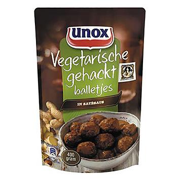 Unox Vegetarian hacked meatballs in saté sauce 400g