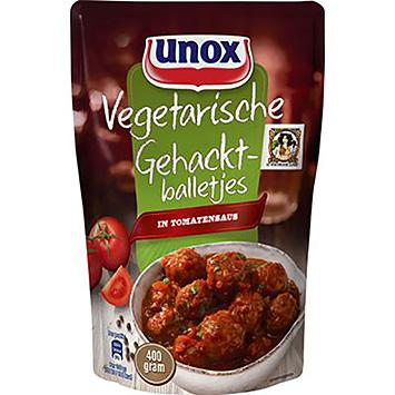 Unox Vegetarische gehacktballetjes in tomatensaus 400g