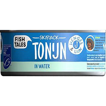 Fish tales Skipjack tonijn in water 160g