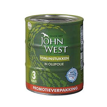 John West Tonijnstukken in olijfolie 3x145g 435g