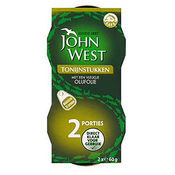 John West Tuna pieces with a touch of olive oil 2x60g