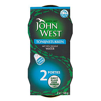John West Tuna pieces with a dash of water 2x60g