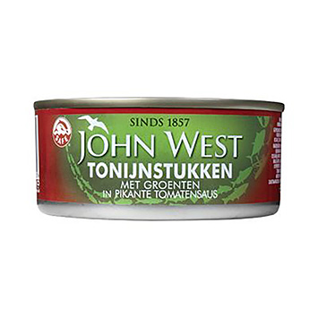 John West Tuna pieces with vegetables in spicy tomato sauce 150g