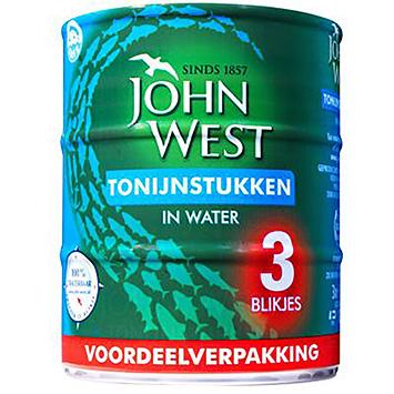 John West Tonijnstukken water 3x145g