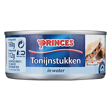 Princes Tonijnstukken in water 160g