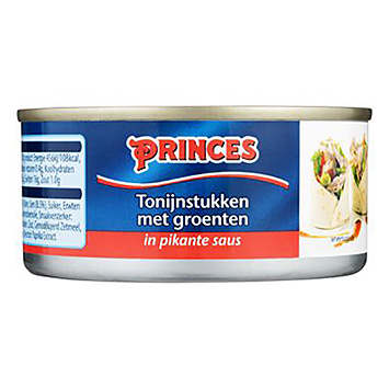 Princes Tuna pieces with vegetables in spicy sauce 160g