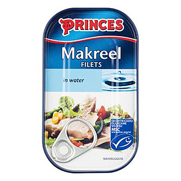 Princes Makreelfilets in water 125g