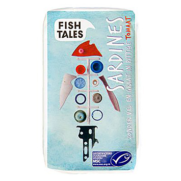 Fish tales Sardines zonder vel en graat in pittige tomaat 120g