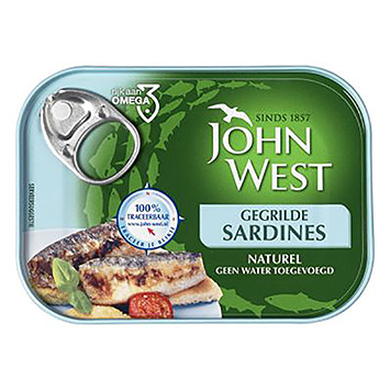 John West Gegrilde sardines naturel 100g