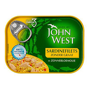 Filets de John West Sardin sans os à l'huile de tournesol 95g