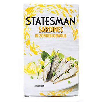 Statesman Sardines in sunflower oil 120g