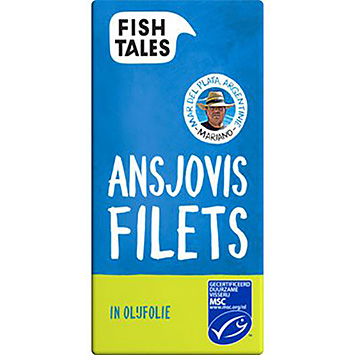 Fish tales Ansjovis filets in olijfolie MSC 45g