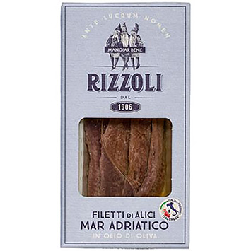 Rizzoli Filetti di alici mar Adriatico in olijfolie 60g