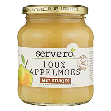 Servero 100% apple sauce with pieces of 345g