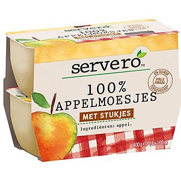 Servero 100% appelmoesjes met stukjes 4x100g