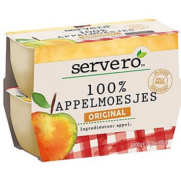 Servero 100% appelmoesjes original 4x100g