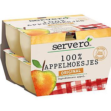 Servero 100% Apfelsauce original 8x100g