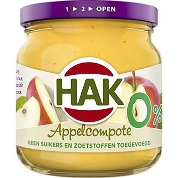 Hak Appelcompote 0% 190g