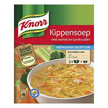 Knorr Kippensoep met wortel en tuinkruiden 2x36g 72g