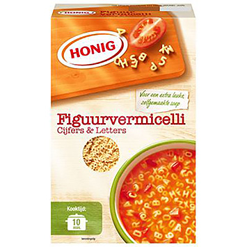 Honig Figure vermicelli numbers and letters 275g