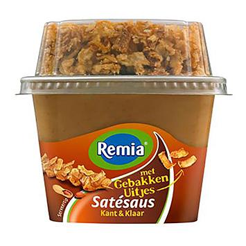 Remia Satesaus kant en klaar met gebakken uitjes 265ml