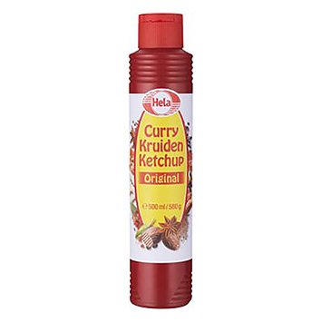 Hela Curry kruiden ketchup original 500ml
