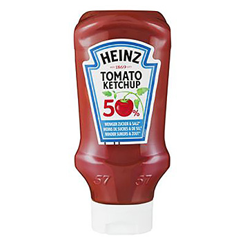Heinz Tomato ketchup 50% less sugar and salt 500 ml