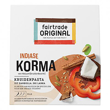 Pâte d'épices korma indienne indienne Fairtrade 75g