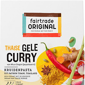 Fairtrade original thailandske gul curry krydderipasta 70g