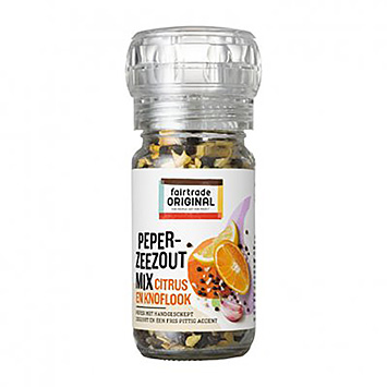 Fairtrade original Peper zeezout mix citrus en knoflook 55g