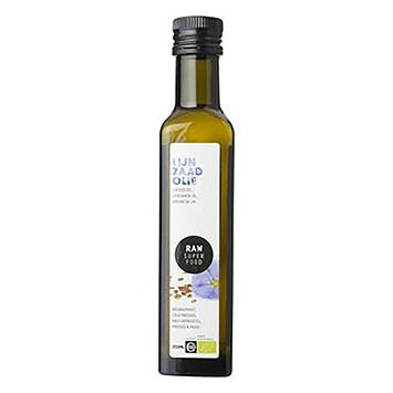 Raw organic food Lijnzaadolie 250ml