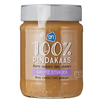 AH 100% Pindakaas grote stukjes 350g