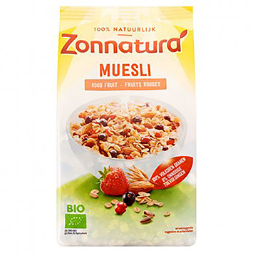 Zonnatura Muesli red fruit 375g