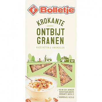 Bolletje Krokante ontbijtgranen hazelnoten en amandelen 375g