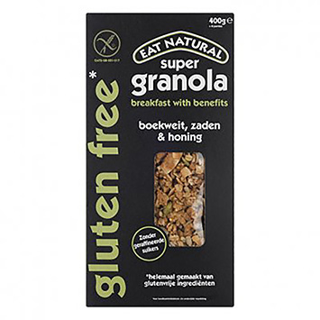 Essen Sie natürliche Super Granola Buchweizensamen und glutenfreien Honig 400g