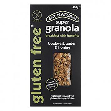 Eat natural Super granola boekweit zaden en honing glutenvrij 400g