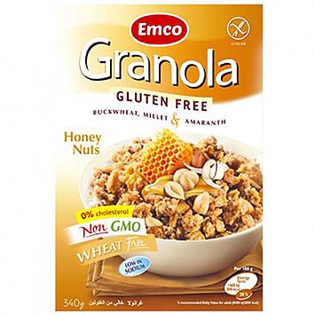 Emco Granola gluten free honing noten 340g