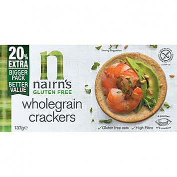 Nairn's Wholegrain crackers 137g