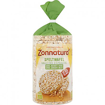 Zonnatura Spelled waffle quinoa buckwheat and millet 100g