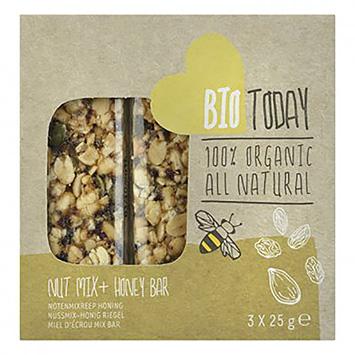 BioToday Nut mix honey bar 75g