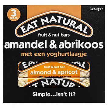 Essen Sie natürliche Frucht- und Nussriegel Mandel und Aprikose 3x50g