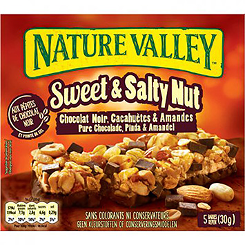 Nature valley Sweet and salty pure chocolate peanut and almond 150g
