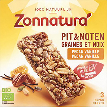 Zonnatura Pit and Nut Pecan Vanille 75g