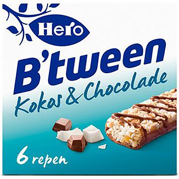 Hero B'tween kokos en chocolade 6x25g