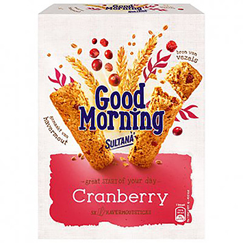 Sultana Good morning cranberry 205g